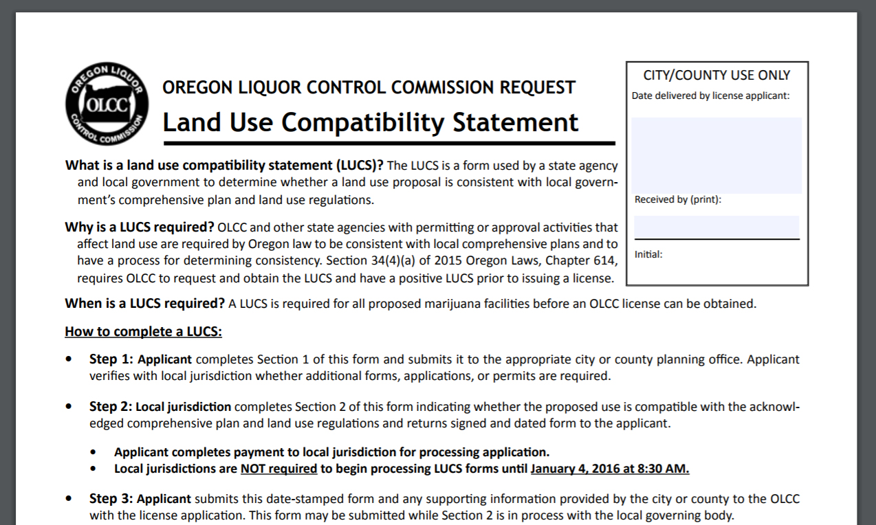 Land Use Compatibility Statements